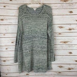 J Jill Sweater XL Tunic Style Blue Long Sleeve